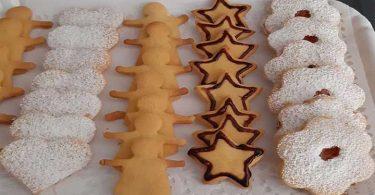 Biscuits sablés friables pour Le NOËL
