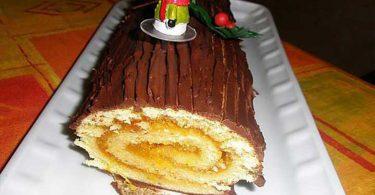 Bûche de Noël à la marmelade d'orange épicée