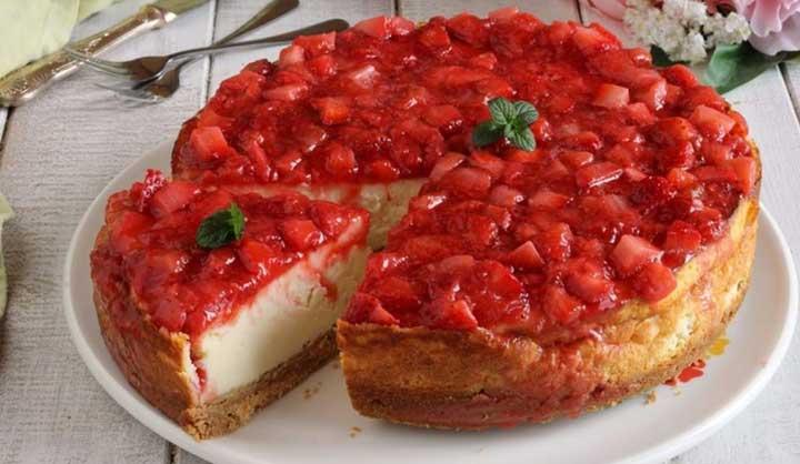 Cheesecake fraise Cyril Lignac facile