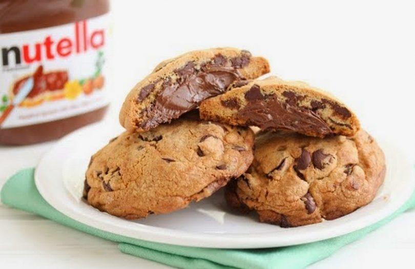 Cookies chocolat au coeur fondant nutella