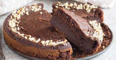 Gâteau au chocolat sans farine à 3 ingrédients