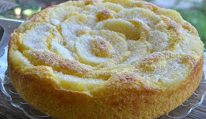 Gâteau au yaourt à l'ananas sans beurre