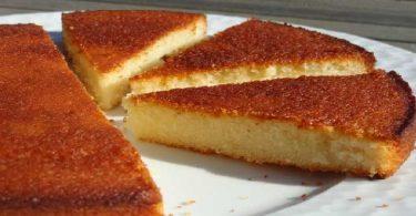Gâteau aux blancs d'oeufs parfumé au Citron Vanille et Amande