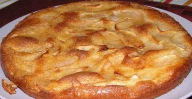 Gâteau aux pommes à la crème de vanille