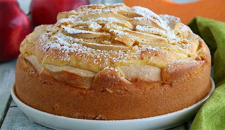 Gâteau aux pommes et citrouille