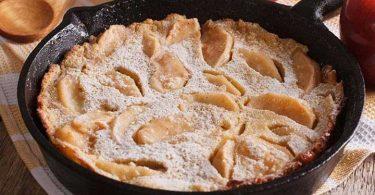 Gâteau crêpe aux pommes à la poêle