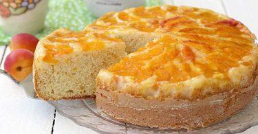 Gâteau renversé aux abricots et confiture facile