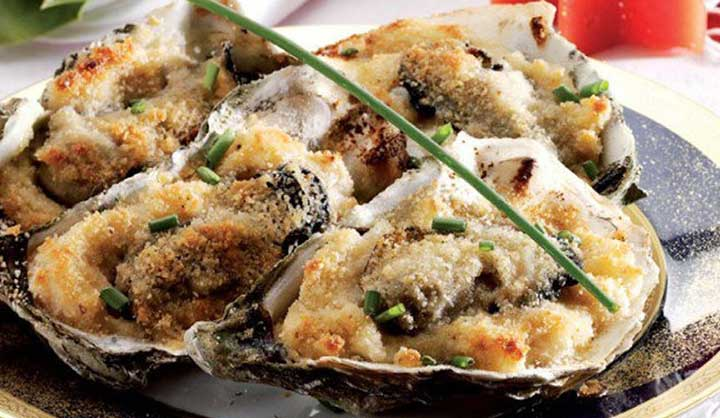 Huîtres gratinées très savoureux pour noël