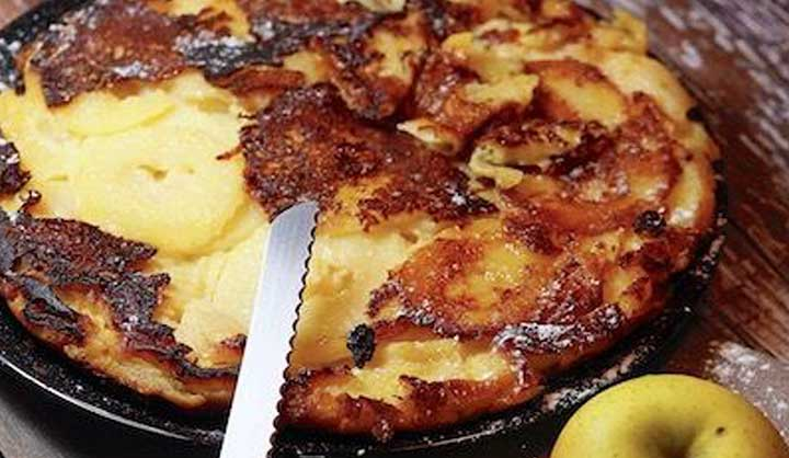 Matafan aux pommes et à la cannelle