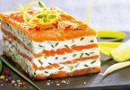 Mille-feuilles de saumon fumé au mascarpone citronné