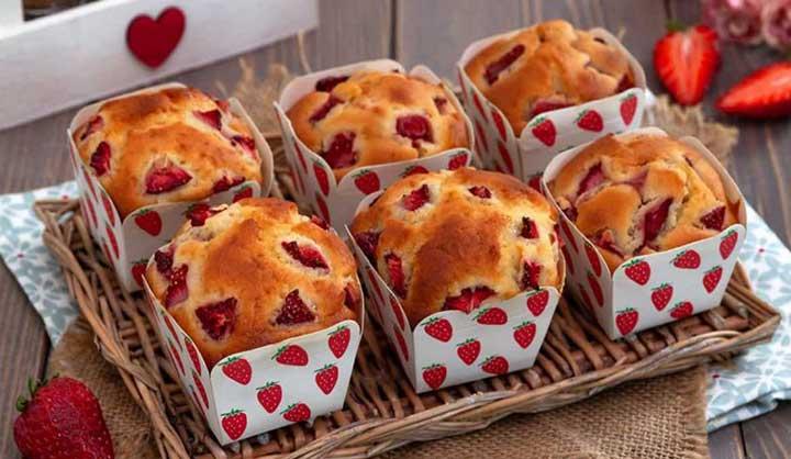 Muffins aux fraises et au mascarpone facile