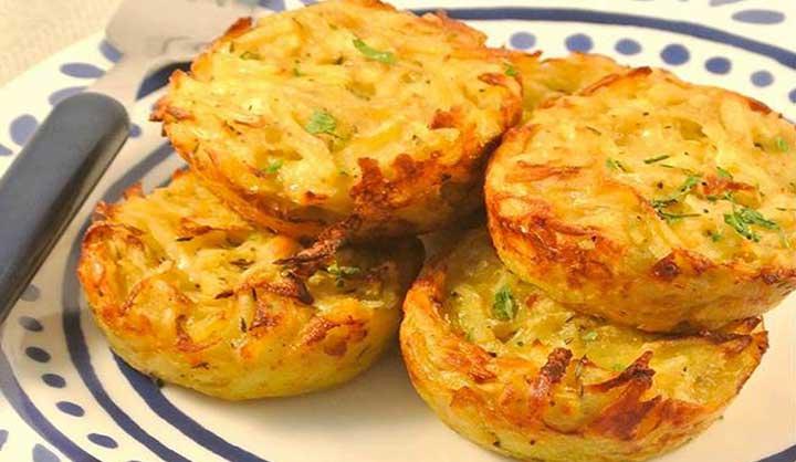 Muffins de pommes de terre au fromage