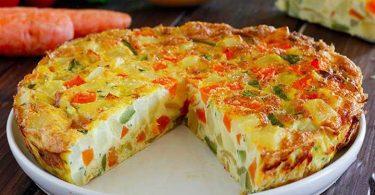 Omelette de légumes au four facile