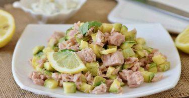 Salade de courgettes et thon Plat frais et léger