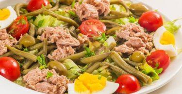 Salade de haricots verts au thon