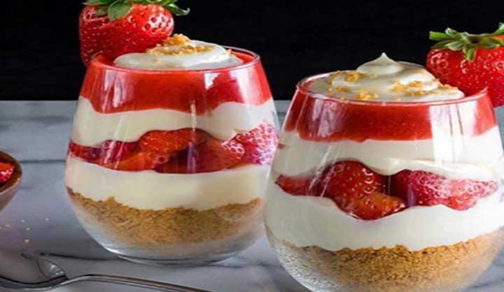 le parfait à la fraise, un dessert léger et délicieux