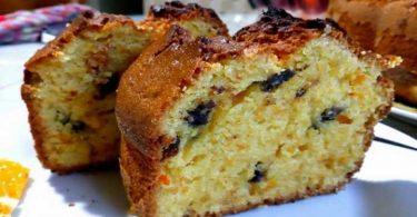 Cake à l'orange et raisins Secs