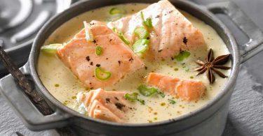 La blanquette de saumon. Simple, et si bon