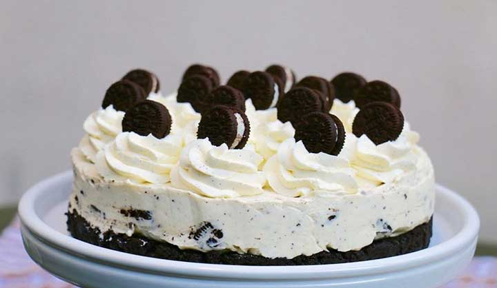 Rapide Cheesecake aux biscuits Oreo
