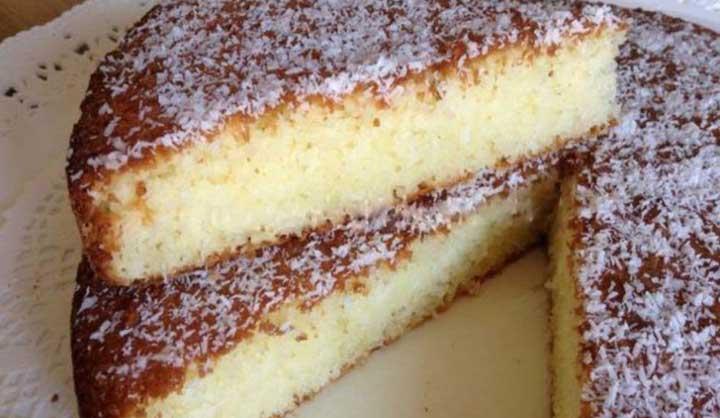 Recette Gâteau doux à la noix de coco facile