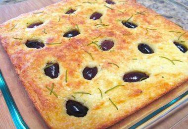 Recette de Cake semoule et olives noires