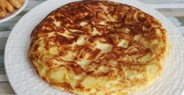 Tortilla aux pommes de terre légère